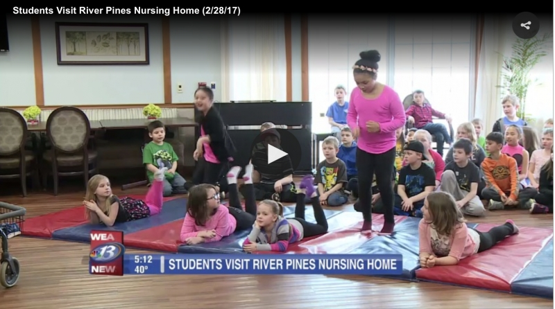 Longfellow elementary students teach River Pines residents to dance